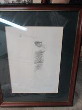 Ben Hogan  print  autographed by artist EDWARD KASPER #88/400