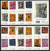 #4089-98 American Treasures Quilts of Gee's Bend 39 cent pane of 20 4098b mint