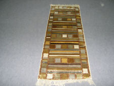 Kilim 2 x 6 ft  Wool Silk Multi Color Runner Oriental Carpet Hand Made