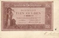 EARLY 1900's VINTAGE NETHERLANDS 10 GULDEN BANKNOTE POSTCARD - USED to Ghent