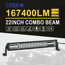 22inch 1080W Dual Color Spot Flood Combo Triple Row Led Light Bar Offroad Wiring