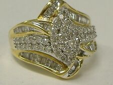 Vintage 10K Gold Approx. 1.00Ct Tw Natural Diamonds Ring Size 7.25