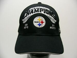 PITTSBURGH STEELERS - NFL 2004 AFC NORTH CHAMPIONS Adjustable Baseball Cap Hat!