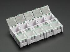 Adafruit pequeño Modular Cajas de almacenamiento de información de componentes SMD de Snap - - Paquete de 10 [ADA431]