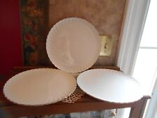 Syracuse China WEDDING RING Dinner Plates Silhouette Platinum Vintage BNOS Set 3