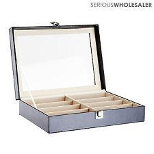 Leather Box Eyeglasses Eyewear Organizer Display Storage Case – 8 Slot
