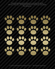Paw Print Vinyl Decals Window Tablet Dog Cat Pet Rescue Paw Print 1 inch (16)