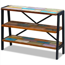 Handcrafted Wooden Sideboard Industrial Metal Console Table Reclaimed Furniture