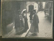 Italie, Rome, Groupe de femmes, ca.1900, Vintage silver print Vintage silver pri