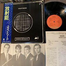 KRAFTWERK Radio-Activity JAPAN LP RECORD ECS-80418 w/ OBI+INSERT Free S&H