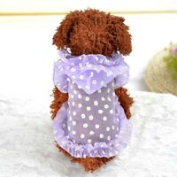 Dog Cat Sun Protection Clothes Lace Dress Pet Puppy Shirt for Small Medium Dogs