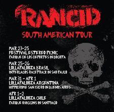"Rancid ""South American Tour"" 2016 Concert Poster - Punk Rock, Ska Punk Music"
