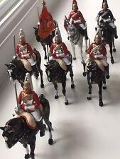 TRUPPA di Britains 'Life Guards'S BELLISSIMO intenditore dipinto figure - 7