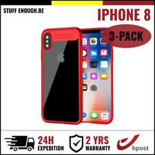 3IN1 Auto Focus Armor Cover Cas Coque Etui Silicone Hoesje Case For iPhone 8 Red