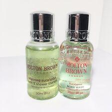2 x Molton Brown Warming Eucalyptus Body Wash - 1oz/30ml each Travel Size NEW