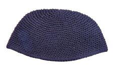 BIG JEWISH DARK BLUE KIPPAH - yarmulka/yarmulke/hat/knit/yamaka/hat judaism