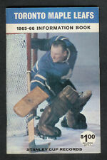 1965-66 Toronto Maple Leafs Media Guide Fact Book *MINT