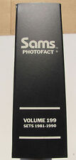 Sams Photofact Manual Binder, Volume 199, Sets 1981-1990, Electronic Schematics