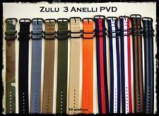 Cinturini ZULU Premium 3 Anelli PVD 20-22-24mm. Nylon Straps. ENTRATE!!!