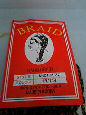 SILKY AND JUMBO HAND BRAID HAIR EXTENSION  KNOT M ZZ  Color  1b/144 NEW!!!