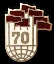 SOVIET RUSSIAN USSR 70 YEARS GREAT OCTOBER REVOLUTION  PIN BADGE