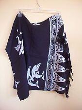 NWT - Batik Sarong, Pareo, Cover-up, Wrap, Black - DOLFINS *US SELLER