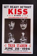 Kiss Poster 1996 Detroit Tiger Stadium