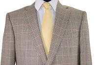 Ermenegildo Zegna Sport Coat Size 44R In Tans Brown & Yellow Plaid Very Recent