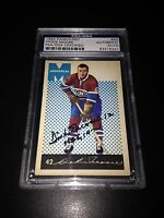 Dickie Moore Signed 1962-63 Parkhurst Canadiens Card PSA Slabbed #83476241
