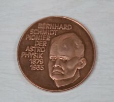 Bronze Plaque Bernhard Schmidt Astro Physik 1879-1935 German Space Astrophysics