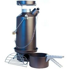 FULL KIT! 1.5ltr Hard Anodised Camping Ghillie Kettle With Pans (our ref 7)