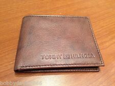 AUTHENTIC BRAND NEW TOMMY HILFINGER LEATHER WALLET  BROWN NO BOX L@@K ----------