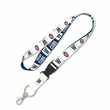 "CHICAGO CUBS ""FLY THE W"" KEY CHAIN LANYARD DETACHABLE BUCKLE 1"" WIDTH 22"" LONG"