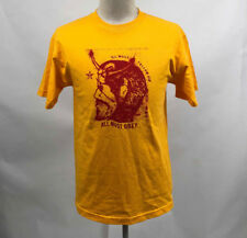 Obey Men's T-Shirt All Must Obey Gold Size M NWT Shepard Fairey Devil Star