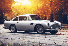 Aston Martin Sports Car wall art printed on canvas 22 X 14 inch solid pine frame