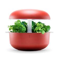 Plantui Smart Garden Rosso da 6 piantine - Orto in casa di design con illumin...