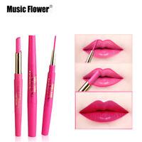 Multifunct Waterproof Lipstick Pen Matte Lip Liner Pencil Long Lasting Makeup