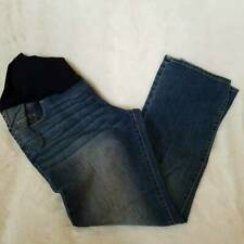 Liz Lange Maternity Womens Boot Cut Jeans Blue Full Belly Panel Stretch 16 New
