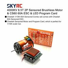 SKYRC 4000KV 8.5T Sensored Brushless Motor 60A ESC Program Card for 1/10 Car TD