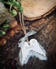 personalised xmas angel wings xmas tree decorations