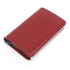 Mens Folding Leather Wallet Credit Card Holder Antimagnet Wallets Blocking Purse