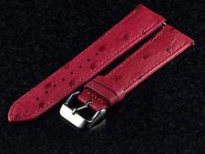 SWI Genuine Ostrich 20mm Watch Strap By Hadley Roma - Fits Invicta - Raspberry