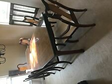 Dining Room Set: 6 Chairs, Glass Top