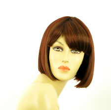 short wig for women brown copper wick light blonde and red ref: MAIA 33h PERUK