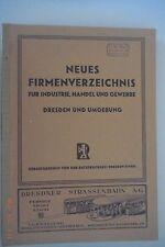 Neues Firmenverzeichnis für Indutrie,Handel u.Gewerbe. Dresden und Umgebung 1946