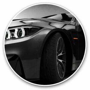 2 x Vinyl Stickers 30cm - Black Sports Car Supercar Cool Gift #16473