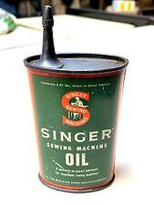 Antique Vintage Can Tin SINGER Oil 3 oz