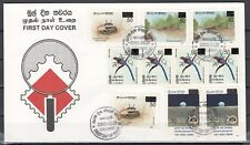 Sri Lanka, Scott cat. 1512-1516. Surcharged Values issue on a First day cover.