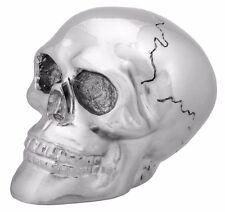 Sleek Custom Chrome Skeleton Skull Head Shift Knob Realistic Gear Lever