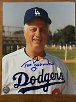 Tom Tommy Lasorda Hand Signed Autographed 8X10 Los Angeles Dodgers Photo W/COA